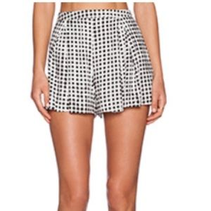 Mink Pink Gingham High Waisted Shorts